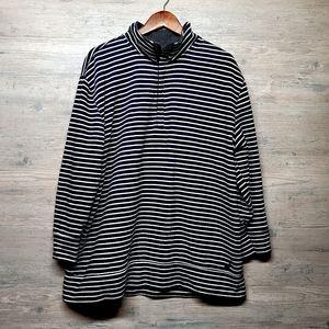 Nautica Striped 1/4 Zip Sweatshirt. Perfect! Soft!